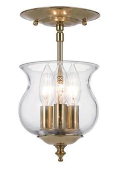Ascott 3 Light Polished Brass Semi-Flush (205|5715-PB)
