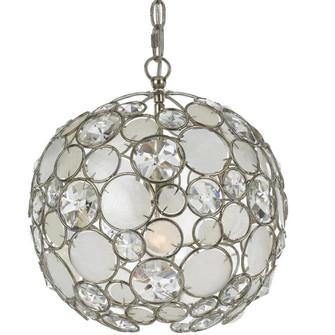 Palla 1 Light Antique Silver Sphere Mini Chandelier (205 527-SA)
