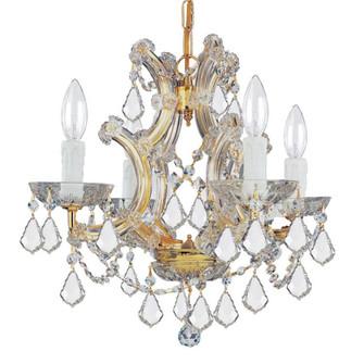 Maria Theresa 4 Light Swarovski Strass Crystal Gold Mini Chandelier (205 4474-GD-CL-S)
