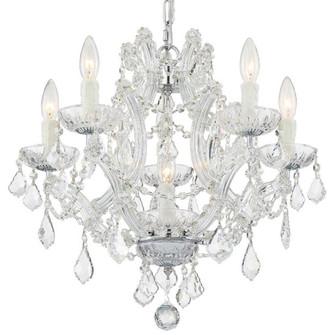 Maria Theresa 6 Light Clear Crystal Chrome Mini Chandelier (205 4405-CH-CL-MWP)