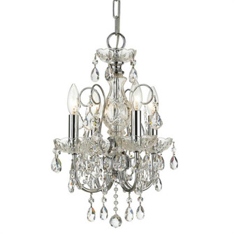Imperial 4 Light Spectra Crystal Chrome Mini Chandelier (205 3224-CH-CL-SAQ)