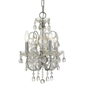 Imperial 4 Light Clear Crystal Chrome Mini Chandelier (205 3224-CH-CL-MWP)