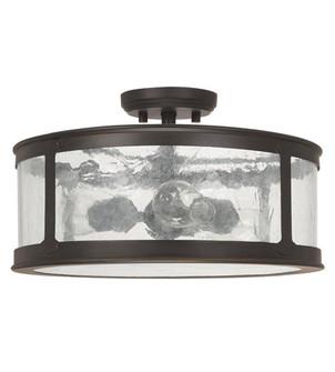 3 Light Outdoor Semi-Flush (42|9567OB)