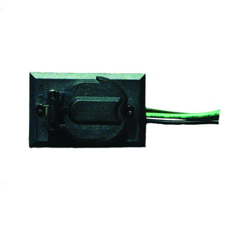 Convenience Electrical Outlet Accessory for Lamp Post (245|338BK)