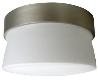 One Light Satin Nickel Opal Glass Drum Shade Flush Mount (1|ARMF1F13SNECT)