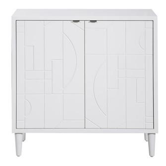 Uttermost Stockholm White 2 Door Cabinet (85 25105)