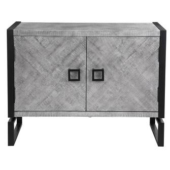 Uttermost Keyes 2 Door Gray Cabinet (85 24990)