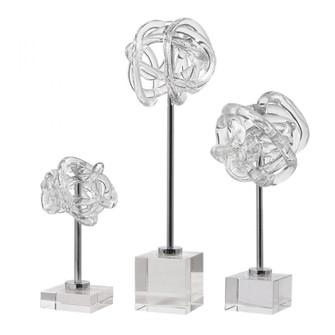 Uttermost Neuron Glass Table Top Sculptures, S/3 (85 17835)