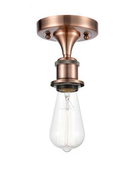 Bare Bulb 1 Light Semi-Flush Mount (3442|516-1C-AC)