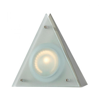 Zee-Puk Wedge w/lamp. Frosted lens / Stainless Steel finish/Triangle Shade (91 MZ901-5-16-5)
