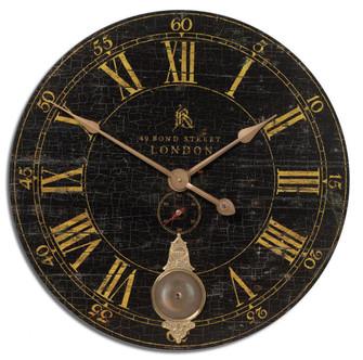Uttermost Bond Street 30'' Black Wall Clock (85|06030)