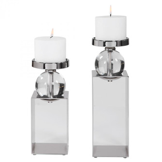 Uttermost Lucian Nickel Candleholders, Set/2 (85|17561)