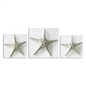 Uttermost Silver Starfish Wall Art, S/3 (85 01129)