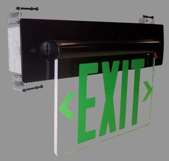 EXIT ADJ BAT 1F GRN/CLR WHITE (104 NX-812-LEDGCW)