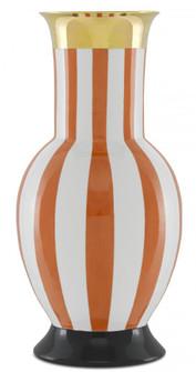 De Luca Coral Stripe Large Vase (92|1200-0391)