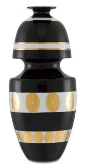 De Luca Black and Gold Gourd Vase (92|1200-0390)