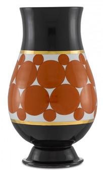 De Luca Black and Orange Vase (92|1200-0389)