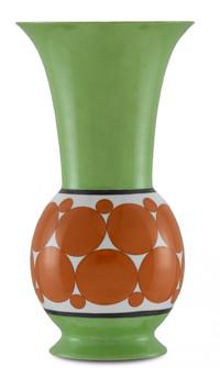 De Luca Green and Orange Vase (92|1200-0388)