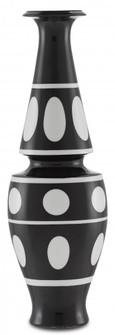 De Luca Black and White Vase (92|1200-0386)