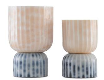 Palazzo Milky Glass Vases Set of 2 (92|1200-0375)