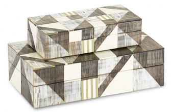 Modernist Bone and Horn Boxes Set of 2 (92|1200-0370)