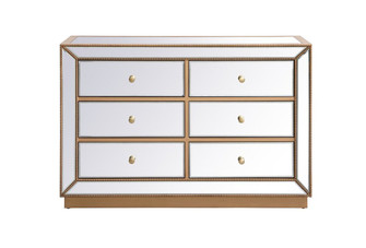 48 inch mirrored cabinet in antique gold (758 MF53017G)