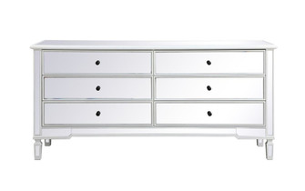 Contempo 72 in. mirrored chest in antique white (758|MF63672AW)