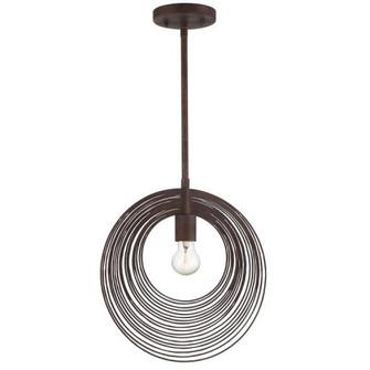 Doral 1 Light Forged Bronze Pendant (205 DOR-B7701-FB)