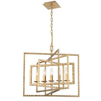 Capri 5 Light Antique Gold Chandelier (205 336-GA)