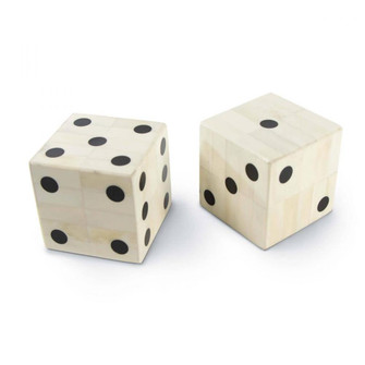 Oversized Bone Gaming Dice Pair (5533 20-1413)