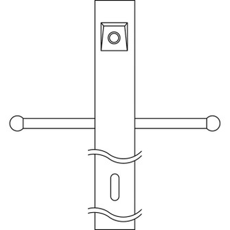 Post w/Ext Photocell & Ladder (10684 49904BK)