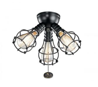 Industrial 3 Light Fixture LED (10684|380041SBK)