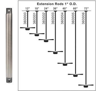 Fan Down Rod 18 Inch (10684 360001WZC)