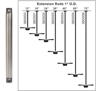 Fan Down Rod 18 Inch (10684 360001TZP)
