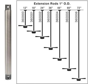 Fan Down Rod 12 inch (10684 360000WZC)