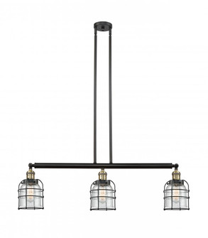 Small Bell Cage 3 Light Island Light (3442|213-BAB-G54-CE-LED)