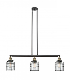 Small Bell Cage 3 Light Island Light (3442|213-BAB-G52-CE-LED)