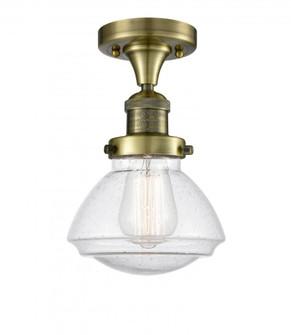 Olean 1 Light Semi-Flush Mount (3442|517-1CH-AB-G324-LED)