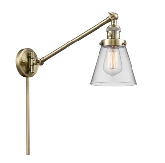 Small Cone 1 Light Swing Arm (3442|237-AB-G62-LED)