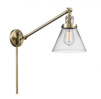 Large Cone 1 Light Swing Arm (3442|237-AB-G42-LED)