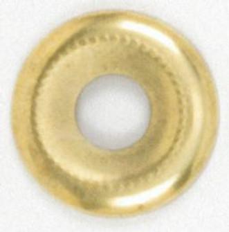 1 1/8 BEADED BRASS PLTD WASHER (27|90/388)