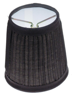 BLACK PLEATED CLIP ON SHADE (27 90/1272)