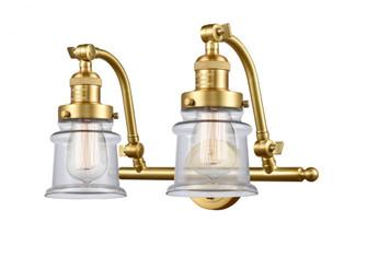 Small Canton 2 Light Bath Vanity Light (3442 515-2W-SG-G182S)