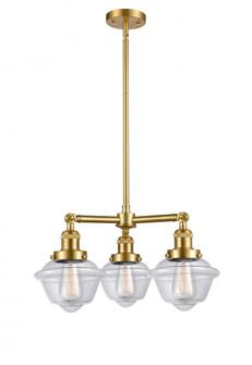 Small Oxford 3 Light Chandelier (3442|207-SG-G532-LED)