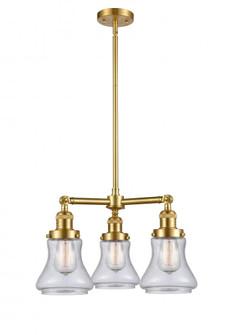 Bellmont 3 Light Chandelier (3442|207-SG-G194-LED)