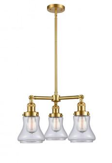 Bellmont 3 Light Chandelier (3442|207-SG-G192-LED)