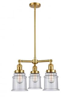 Canton 3 Light Chandelier (3442|207-SG-G184-LED)