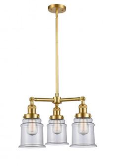 Canton 3 Light Chandelier (3442|207-SG-G182-LED)