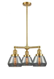 Fulton 3 Light Chandelier (3442|207-SG-G173-LED)