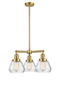 Fulton 3 Light Chandelier (3442|207-SG-G172-LED)